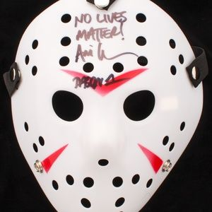"Wall Art - Ari Lehman Signed ""Friday the 13th"" Jason Mask"